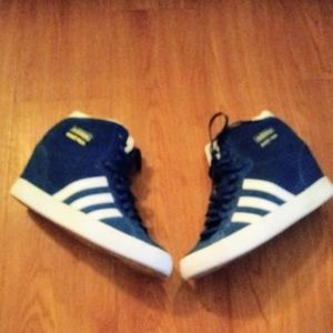 Adidas wedge hi top sneakers